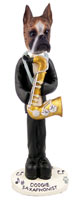 Boxer Brindle Saxophonist Doogie Collectable Figurine