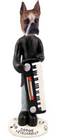 Boxer Brindle Keyboardist Doogie Collectable Figurine