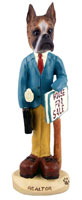 Boxer Brindle Realtor (male) Doogie Collectable Figurine