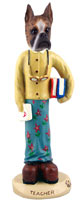Boxer Brindle Teacher (female) Doogie Collectable Figurine