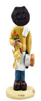 Pomeranian Black Chef Doogie Collectable Figurine