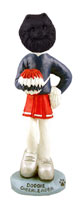 Pomeranian Black Cheerleader Doogie Collectable Figurine