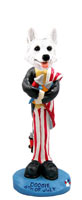 German Shepherd White 4th of July Doogie Collectable Figurine