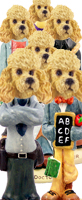 Poodle Apricot Doogie Characters
