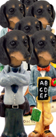 Dachshund Black Doogie Characters