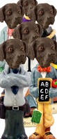 Labrador Retriever Chocolate Doogie Characters