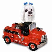 Maltese Fire Engine Doogie Collectable Figurine