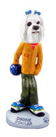 Maltese Bowler Doogie Collectable Figurine