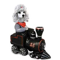 Poodle White Train Doogie Collectable Figurine