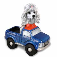 Poodle White Pickup Doogie Collectable Figurine