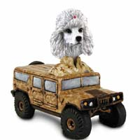 Poodle White Hummer Doogie Collectable Figurine