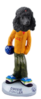 Poodle Black Bowler Doogie Collectable Figurine