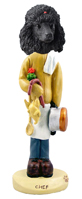Poodle Black Chef Doogie Collectable Figurine