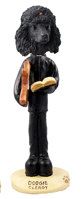 Poodle Black Clergy Doogie Collectable Figurine