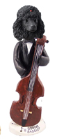 Poodle Black Bassist Doogie Collectable Figurine