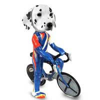 Dalmatian Bicycle Doogie Collectable Figurine