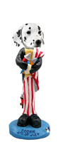 Dalmatian 4th of July Doogie Collectable Figurine