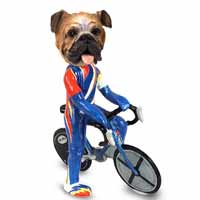 Bulldog Bicycle Doogie Collectable Figurine
