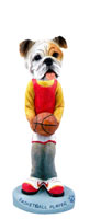 Bulldog White Basketball Doogie Collectable Figurine