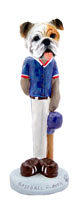 Bulldog White Baseball Doogie Collectable Figurine