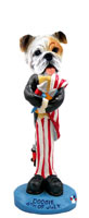 Bulldog White 4th of July Doogie Collectable Figurine