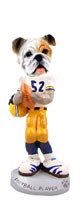 Bulldog White Football Player Doogie Collectable Figurine