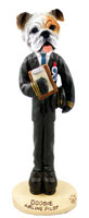Bulldog White Airline Pilot Doogie Collectable Figurine