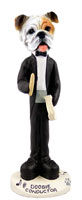 Bulldog White Conductor Doogie Collectable Figurine
