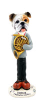 Bulldog White French Horn Doogie Collectable Figurine
