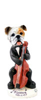 Bulldog White Cellist Doogie Collectable Figurine