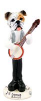 Bulldog White Banjo Doogie Collectable Figurine