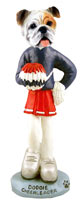 Bulldog White Cheerleader Doogie Collectable Figurine