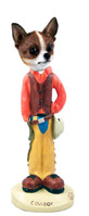 Chihuahua Brindle & White Cowboy Doogie Collectable Figurine