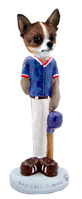 Chihuahua Brindle & White Baseball Doogie Collectable Figurine