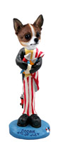 Chihuahua Brindle & White 4th of July Doogie Collectable Figurine