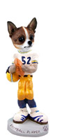 Chihuahua Brindle & White Football Player Doogie Collectable Figurine