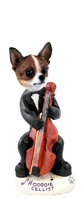 Chihuahua Brindle & White Cellist Doogie Collectable Figurine