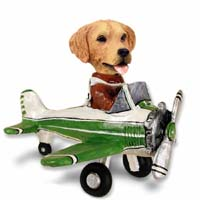 Golden Retriever Airplane Doogie Collectable Figurine