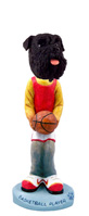 Schnauzer Black w/Uncropped Ears Basketball Doogie Collectable Figurine