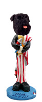 Schnauzer Black w/Uncropped Ears 4th of July Doogie Collectable Figurine
