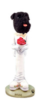 Schnauzer Black w/Uncropped Ears Bride Doogie Collectable Figurine