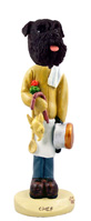 Schnauzer Black w/Uncropped Ears Chef Doogie Collectable Figurine
