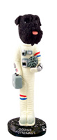 Schnauzer Black w/Uncropped Ears Astronaut Doogie Collectable Figurine
