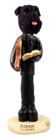 Schnauzer Black w/Uncropped Ears Clergy Doogie Collectable Figurine