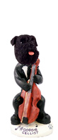 Schnauzer Black w/Uncropped Ears Cellist Doogie Collectable Figurine