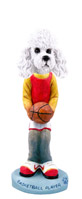 Poodle White w/Sport Cut Basketball Doogie Collectable Figurine