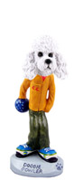 Poodle White w/Sport Cut Bowler Doogie Collectable Figurine