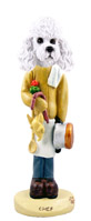 Poodle White w/Sport Cut Chef Doogie Collectable Figurine