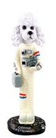 Poodle White w/Sport Cut Astronaut Doogie Collectable Figurine
