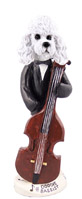 Poodle White w/Sport Cut Bassist Doogie Collectable Figurine
